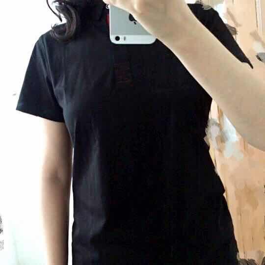 奢陆 工作服文化衫定制diy班服翻领t恤定做工衣广告polo衫印字logo刺绣 黑色 M男 晒单图