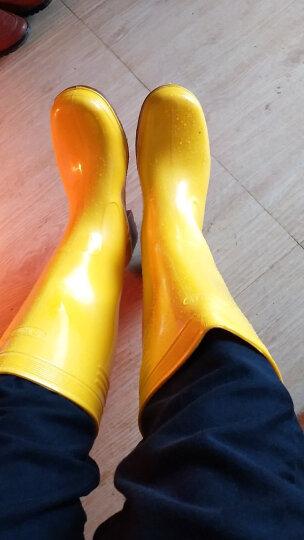 金橡冬加绒雨鞋男高筒户外钓鱼水鞋防水防滑加厚耐磨胶套鞋厨师工作雨靴 020黄色 43 晒单图