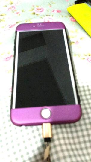 SKSK 苹果6/6s手机壳摄像头全包撞色磨砂iPhone6 Plus三段式镜头防摔保护套潮牌男女款 苹果6Plus/6sPlus梦幻紫(5.5英寸) 晒单图