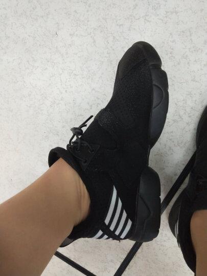 BASTO/百思图时尚舒适透气休闲运动风条纹内增高女单鞋1792CAM7 白色 36 晒单图