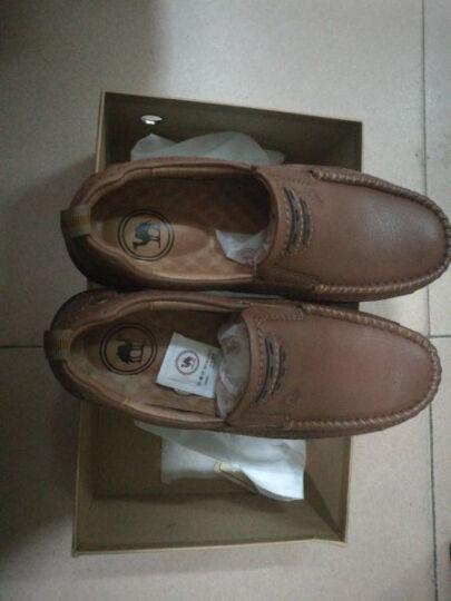 骆驼牌男鞋 舒适便捷套脚休闲耐磨低帮皮鞋 暗棕 38 晒单图