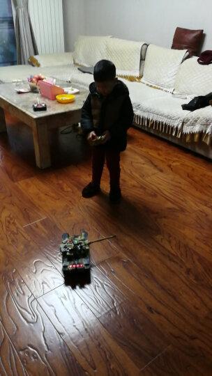 活石 遥控车遥控坦克车军事对战模型亲子摇控汽车充电儿童玩具 44cm迷彩黄 晒单图