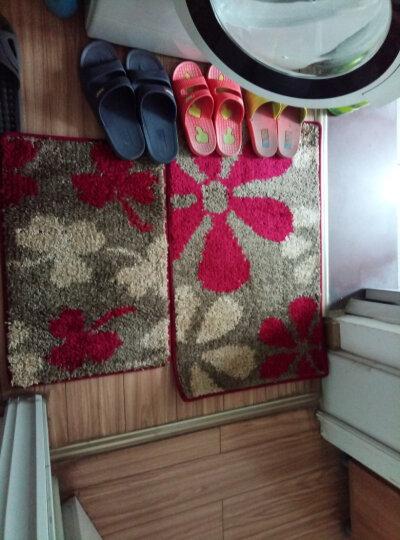 御美地垫 家用入户门垫脚垫 门口卫浴垫 入户门地垫门厅玄关脚垫防滑耐磨 红色三叶草 40x60cm 晒单图