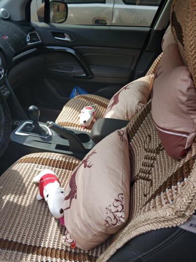 兔小凡(HIBUNNY)【四件套】汽车头枕护颈枕一对装 车用卡通靠枕抱枕腰靠套装四季通用可拆洗 杏色 一鹿平安 四件套 晒单图