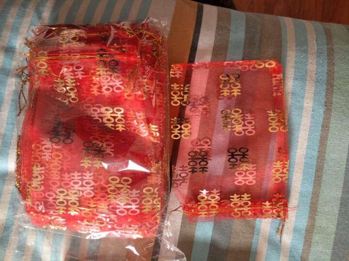 菲寻 婚庆喜糖袋子结婚用品糖果袋装糖果纱袋喜糖盒喜糖包装袋创意 喜字_纱袋【50个装】 中号_13*17cm 晒单图