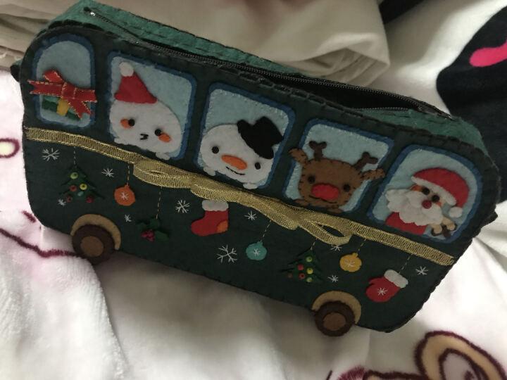 迪鸥 中国风古风手拎包斜挎包包包零钱包单肩包 免裁剪不织布 diy手工制作布艺材料包 圣诞巴士挎包 晒单图