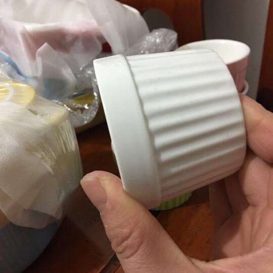 yomerto 悠米兔 舒芙蕾烤碗创意烘焙蛋糕模具蒸蛋碗陶瓷耐高温烤杯 纯净白 晒单图
