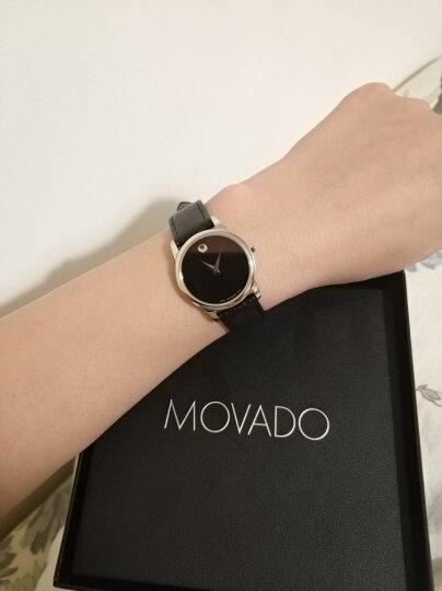 摩凡陀(Movado)瑞士手表 MUSEUM CLASSIC 博物馆石英女表牛皮带 女款腕表银色0607015 晒单图