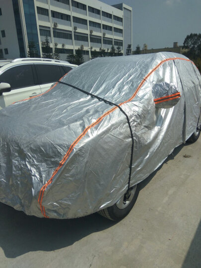 艾可斯 汽车车衣车罩全罩 加厚加绒防雨防晒夏季冬季车套 全罩银灰色-专车专用 海马M3s5m6M8m5福美来 晒单图