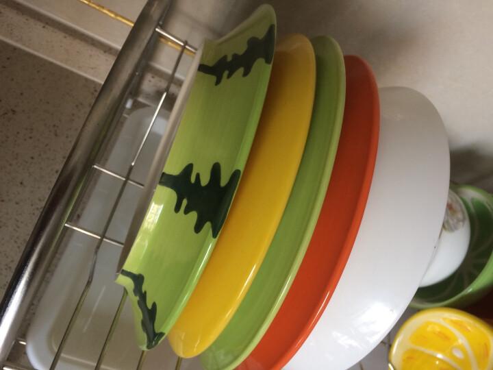 瓷物语 手绘水果餐具套装DIY自由搭配儿童餐具日式碗盘碟釉下彩套碗 青檬味碟 晒单图