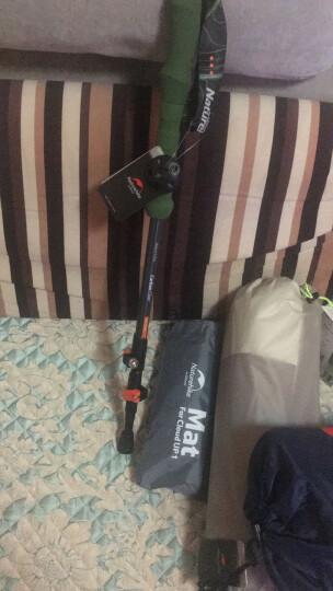NH挪客户外登山杖碳素轻便 外锁三节徒步手杖爬山拐杖碳纤维伸缩 灰绿色 晒单图