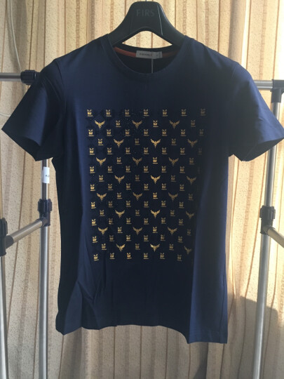 劲霸男装K-Boxing 短袖T恤 男士个性印花圆领短袖T恤|FTCJ2321 黄色 175/L 晒单图
