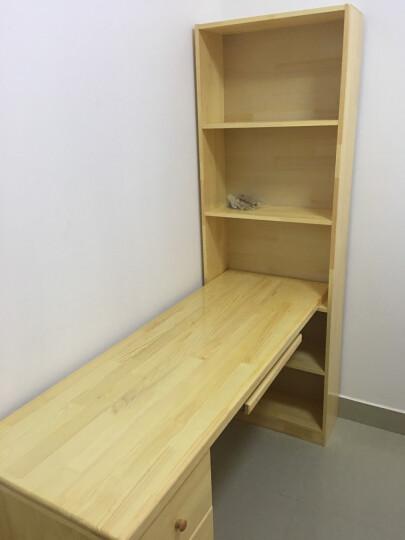 雅霏--台式电脑桌 简易书桌 简易办公桌组合 书柜书架电脑桌 写字台 B款书柜+三抽屉清漆 晒单图