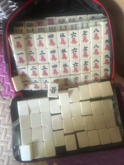 一级品象牙色白玉色麻将牌38-40mm中号大号家用手搓送桌布 40MM白玉兔 晒单图