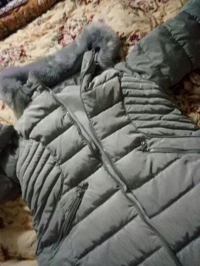 馨装中老年女装冬装棉服外套妈妈装中长款毛领简约棉服棉袄 藏青色 2XL(建议100斤125斤) 晒单图