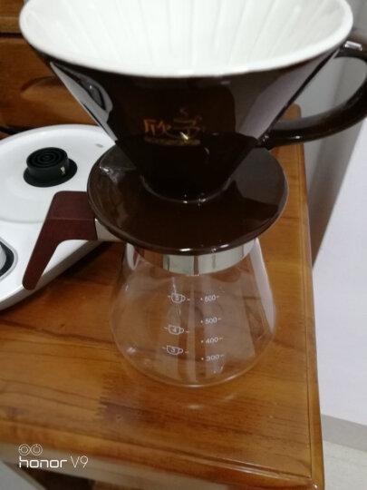欣予(XINYU) 欣予 咖啡机 手冲咖啡壶套装家用4人份滴漏式陶瓷滤杯细口壶分享组合器具 专业级银色套装 晒单图