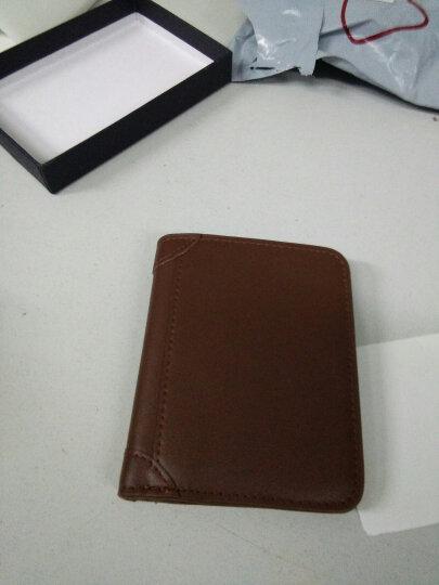 巴适(RDBS)真皮超薄复古钱包 小钱包牛皮钱夹 横款竖款短款钞票夹卡夹 1006 浅棕色竖款 晒单图