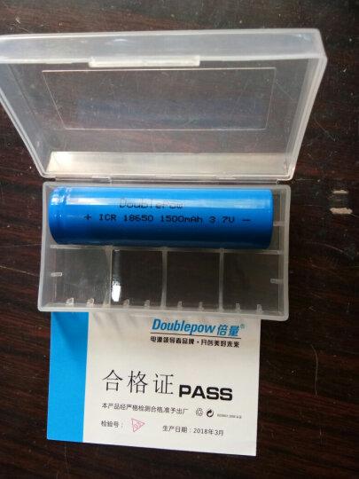 倍量 USB充电小风扇 夹子风扇 通用电池18650锂电池 3.7v平头 充电电池 晒单图