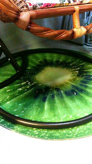卡通正圆形地毯厚电脑椅防滑垫转椅吊篮吊椅摇椅藤椅鸟巢帐篷地垫包邮 柠檬3D 直径120厘米 晒单图