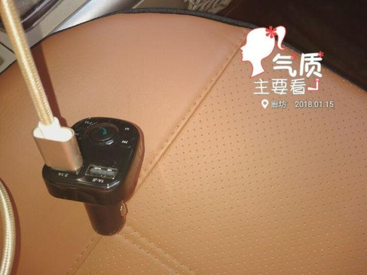 KOOLIFE 车载蓝牙车载mp3播放器 车载充电器头免提电话FM发射接收器电压检测双USB快充一拖二汽车充点烟器 黑 晒单图