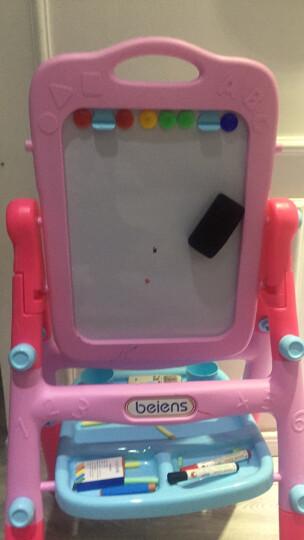 贝恩施 多功能儿童玩具男孩女孩画板画架 双面磁性宝宝益智玩具黑板写字板六一儿童节礼物 【特惠款】双面磁性画板(中国红) 晒单图