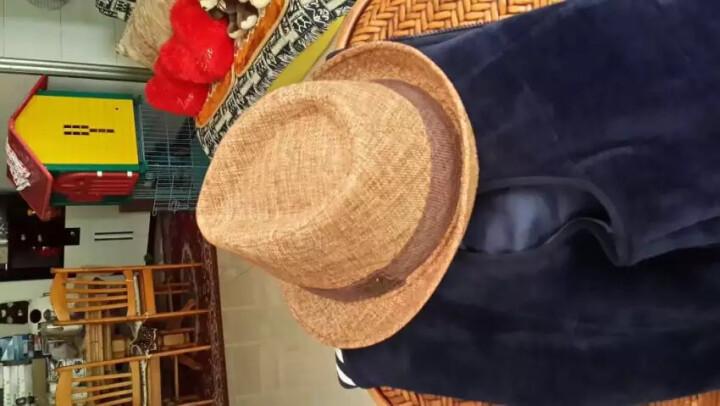 mrduck 帽子男夏天韩版潮英伦复古礼帽绅士帽男夏季爵士帽户外透气防晒遮阳帽男士草帽大码休闲帽男 MS13014-米其色 (可调节) 小码(适合55cm以下头围) 晒单图