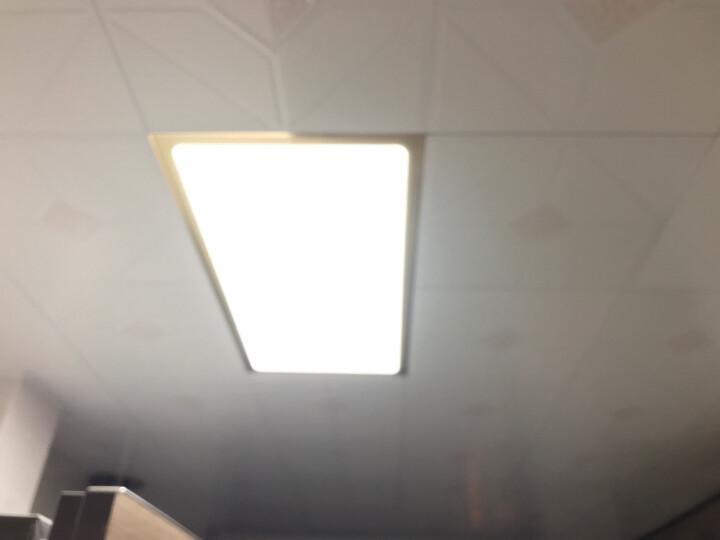 欧普照明 集成吊顶led灯 铝扣板天花板格栅平板灯嵌入式厨房灯厨卫灯-XG 【升级款奢华金】30*60白光 18瓦 防潮防锈抗油污 晒单图