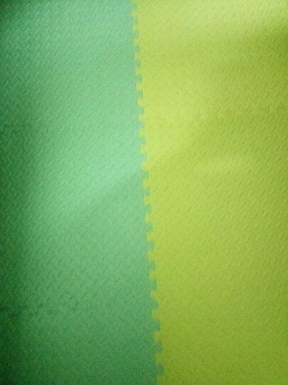 绿美佳宝宝爬行垫60*60cm加厚环保健康婴儿拼接爬爬垫小孩垫子茎叶纹儿童泡沫地垫 蓝色1片(送边条) 60*60*1.2cm 晒单图