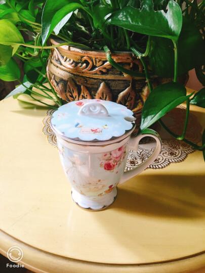 青麦 时尚下午茶红茶奶茶杯咖啡杯马克杯带盖勺 创意陶瓷杯欧式骨瓷杯水杯 晒单图