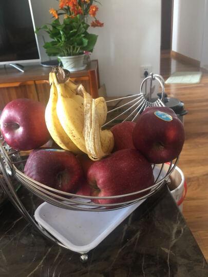 尚合 不锈钢水果盘 客厅收纳创意水果篮子摇摆沥水果盆 椭圆形带接水盘 晒单图