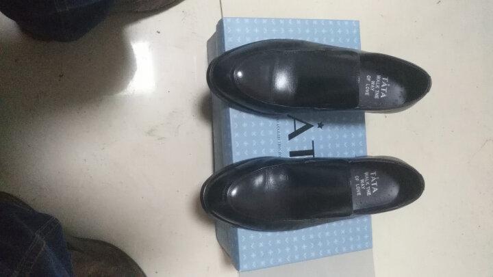 Tata/他她商务休闲时尚大气牛皮男皮鞋 2Q166AM7 黑色 40 晒单图