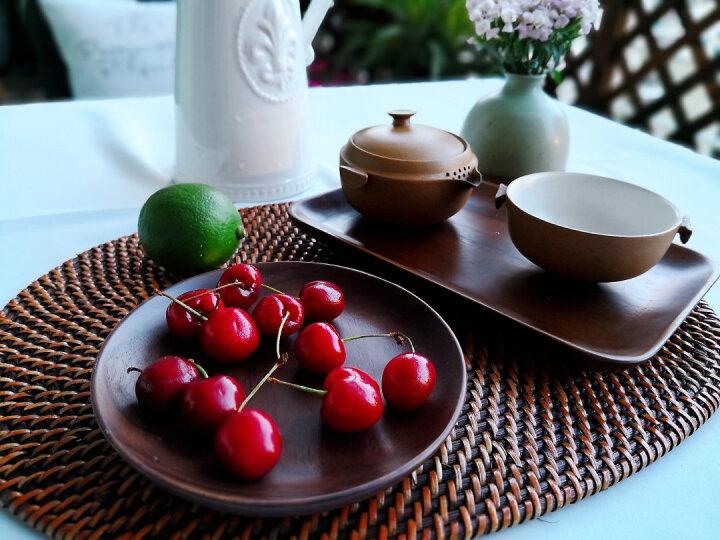 朵颐 日式黑胡桃小餐盘圆形早餐盘木质托盘家用创意西餐点心盘子实木茶盘寿司盘子 圆润小号 晒单图