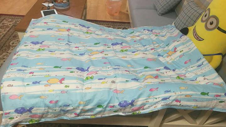 恒源祥彩羊(Fazeya)家纺冬季儿童被子幼儿园学生被宝宝棉花被小孩单人纯棉冬被全棉被芯 调皮字母 120x150cm-3斤 带2个被套 晒单图