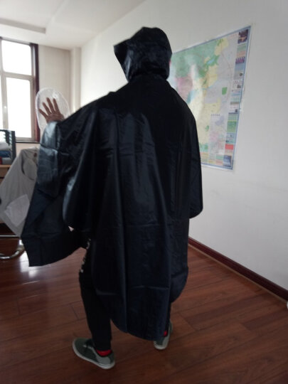 【京东超市】正招(kendo)户外骑行成人电动电瓶摩托车雨衣男女式单人雨披加大加厚 P1H藏青4XL大帽檐 晒单图