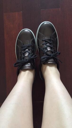 ECCO爱步 时尚女鞋平底圆头绑带休闲单鞋 艾米241023 金属棕59961 37 晒单图