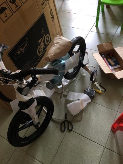 健儿(jianer)【可加长】儿童自行车男女小孩单车12/14/16寸 概念豪华款-圣湖蓝(折叠车把双碟刹) 16寸 晒单图