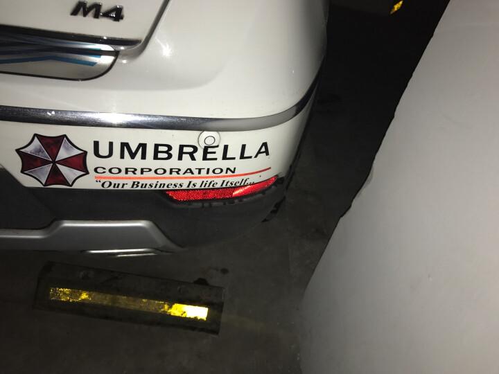 生化危机汽车车贴防水反光保护伞个性反光车身贴纸越野车改装遮挡划痕贴装饰品 大灯贴对装 晒单图