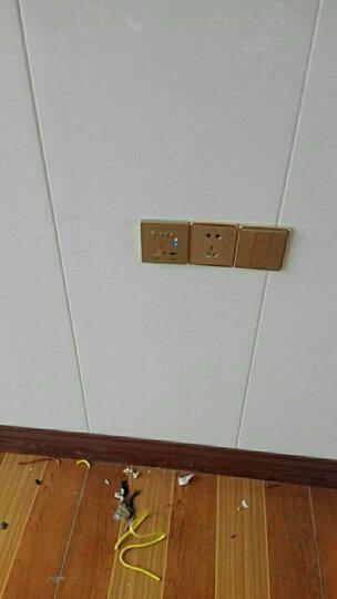 MOOV 智能家居86型AP墙壁式wifi路由器插座面板USB无线中继300M路由器酒店 金色 晒单图