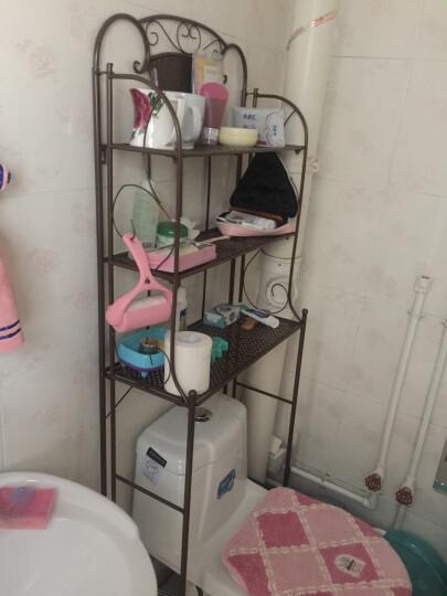 忆凡 浴室洗衣机置物架铁艺马桶架层架卫生间置物架脸盆落地收纳架调节 厕所马桶架花架 古铜色 晒单图