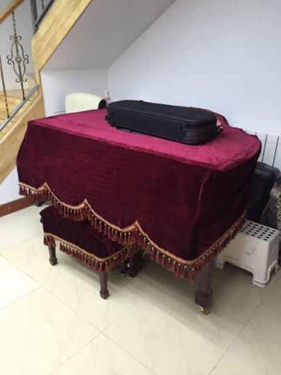 芳邻  钢琴罩三角钢琴罩防尘套可定制 黑色 晒单图