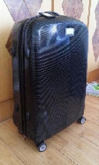 康沃(CONWOOD)PC防刮28英寸拉杆箱 万向轮旅行箱行李箱男登机箱 黑色 28英寸 晒单图