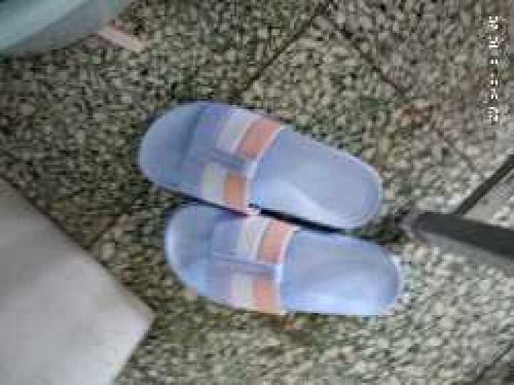 时尚新款居家居凉拖鞋女夏季防滑平底浴室内情侣拖鞋男家用卧室木地板拖 蓝色 43 晒单图