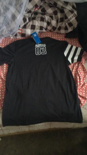 阿迪达斯adidas 官方 三叶草 男子 短袖上衣 黑 BP8893 如图 M 晒单图