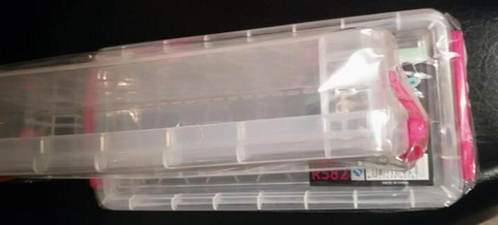 暖烘烘 长方形透明文具盒美术工具盒 多功能塑料收纳盒样品盒铅笔盒 2个装 晒单图