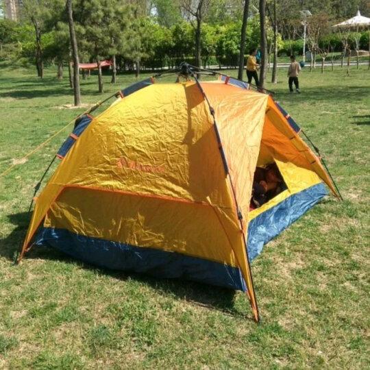探路者(TOREAD) 帐篷 通用四季户外露营登山防风透气三人单层帐篷TEDC90663 棕榈金/藏青 晒单图