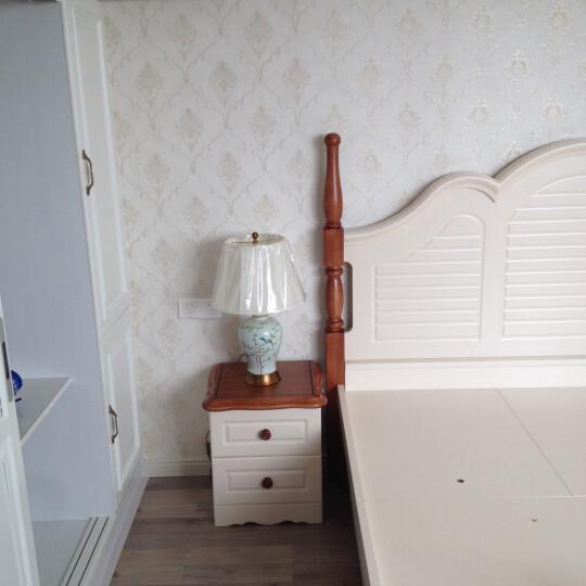 圣玛帝诺 新中式全铜陶瓷台灯卧室床头灯客厅书房创意装饰台灯 AV-1286花鸟陶瓷按钮 晒单图