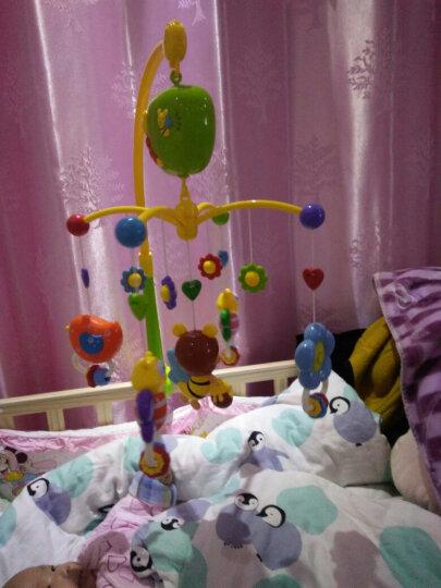 谷雨婴儿宝宝床铃风铃玩具0-1岁新生儿幼儿床头摇铃0-3-6-12个月玩具安抚助眠音乐旋转礼物 婴儿玩具泡泡精灵床铃(多功能 礼盒装) 晒单图