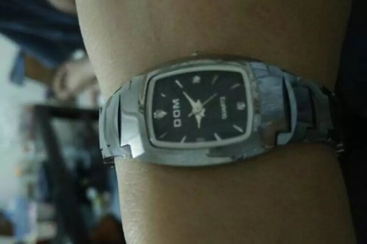 【送女友】多姆(DOM)手表女表时尚潮流钨钢带表休闲防水女士手表石英表学生腕表 银针本色 晒单图