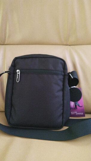 爱华仕(OIWAS)单肩包 商务休闲时尚电脑包 男士斜挎包 5421黑色 晒单图