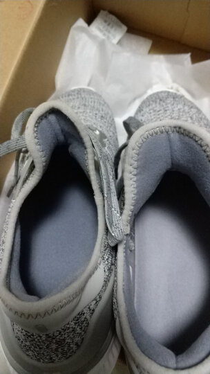 米家 (MIJIA)小米运动鞋 女鞋休闲鞋 一体式高弹针织鱼骨足弓锁紧系统组合式单鞋 白 36码 晒单图
